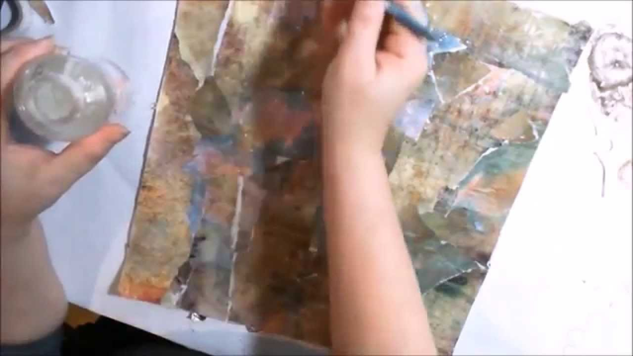 Mixed media bendable fabric leaves tutorial for Sparemarbles