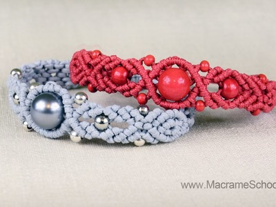 Musical Big Bead Bracelet Tutorial by Macrame School