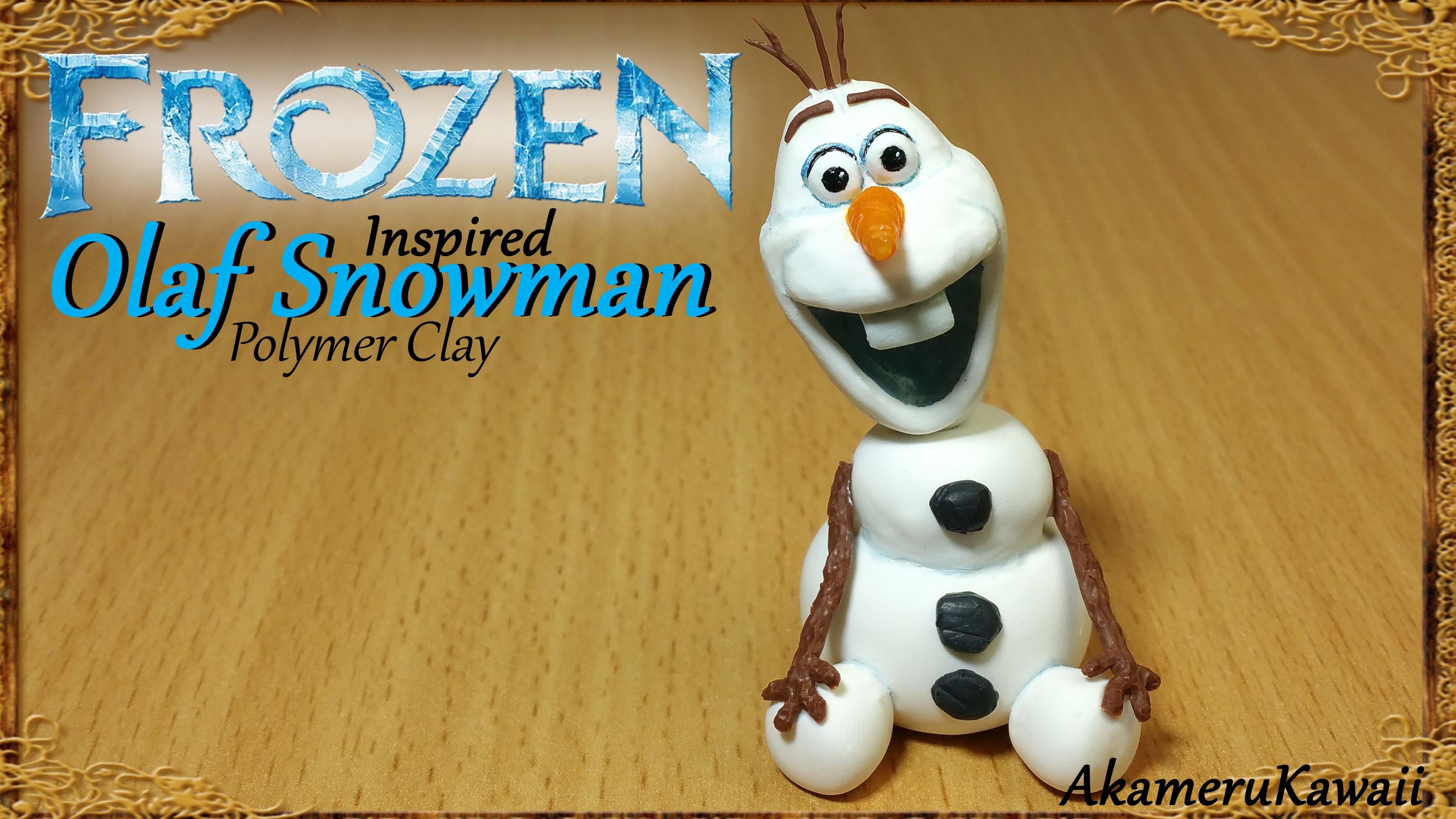 Olaf Snowman; Disney's Frozen inspired - Polymer Clay Tutorial