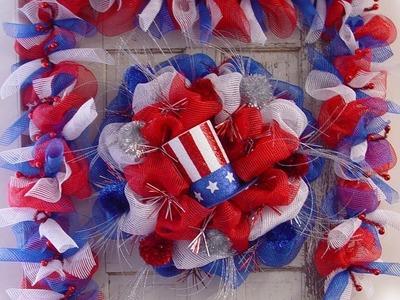 Patriotic Wreath & Garland Tutorial by Trendy Tree