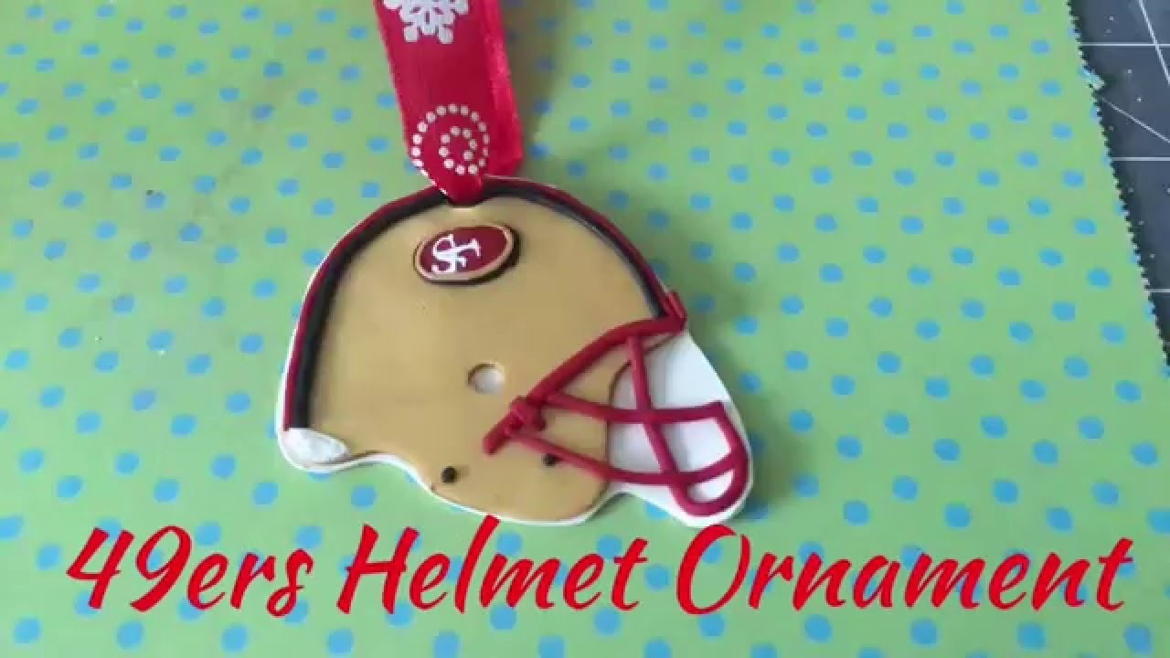 Polymer clay 49ers Helmet Christmas Ornament Tutorial
