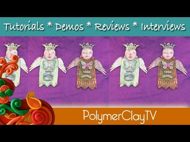 Polymer Clay Crowned Angel Goddess Ornament Tutorial