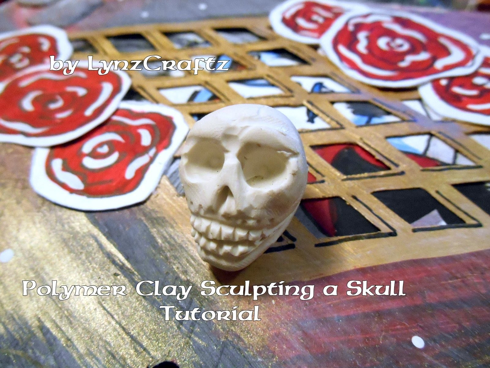 Polymer clay Sculpting a Simple skull tutorial