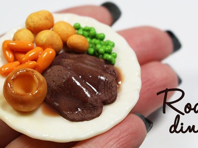 Polymer clay Sunday Roast TUTORIAL