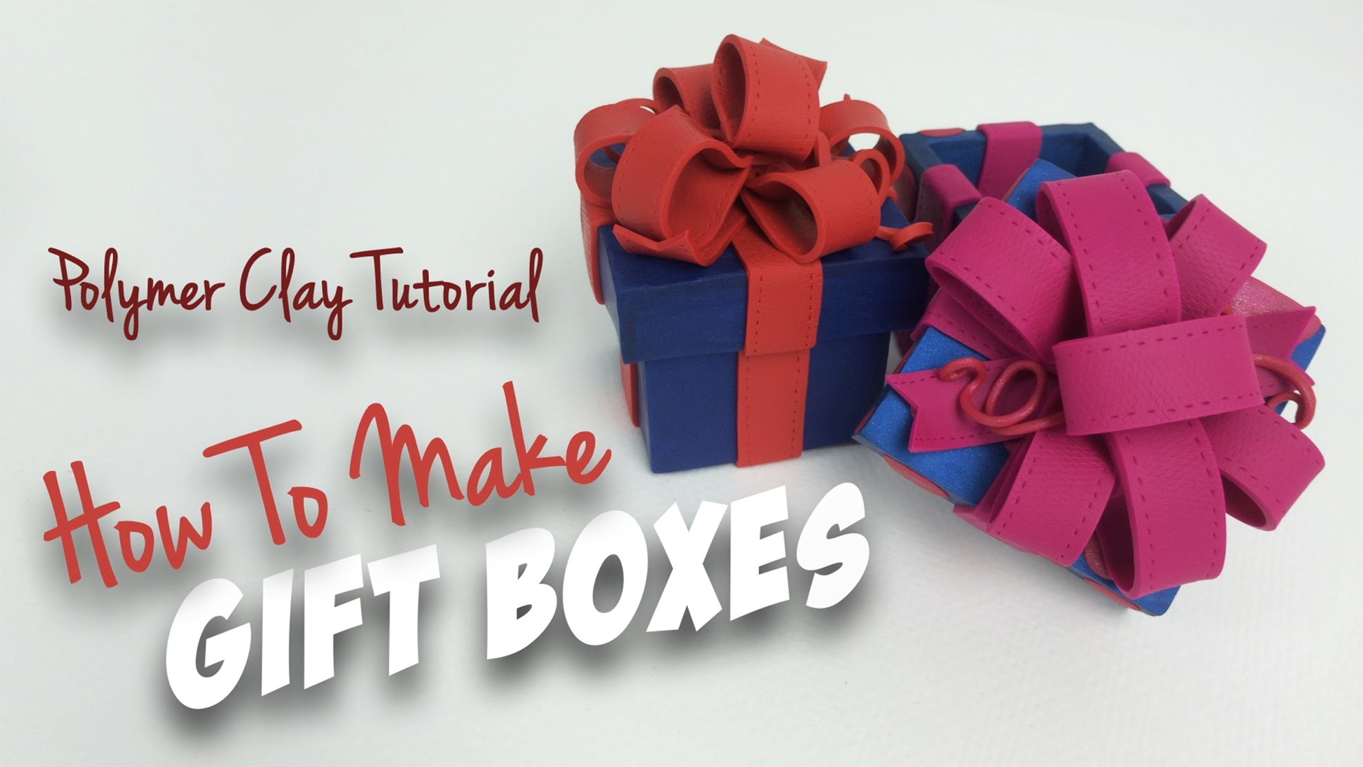 """Polymer Clay Tutorial """"How to make Gift Boxes"""""""