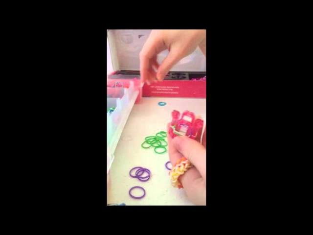Rainbow Loom Bungie-Cord Bracelet.Ring Tutorial (Finger Loom)