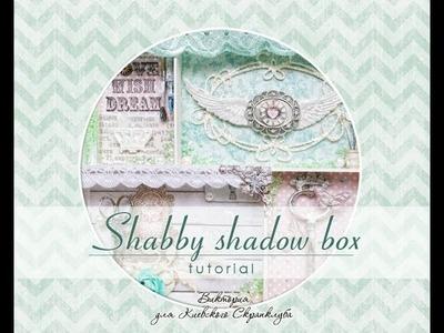 Shabby shadow box - tutorial