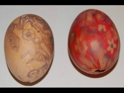 Silk Tie Easter Eggs DIY