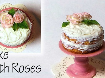 Simple Elegant Cake W. Roses - Polymer Clay Tutorial