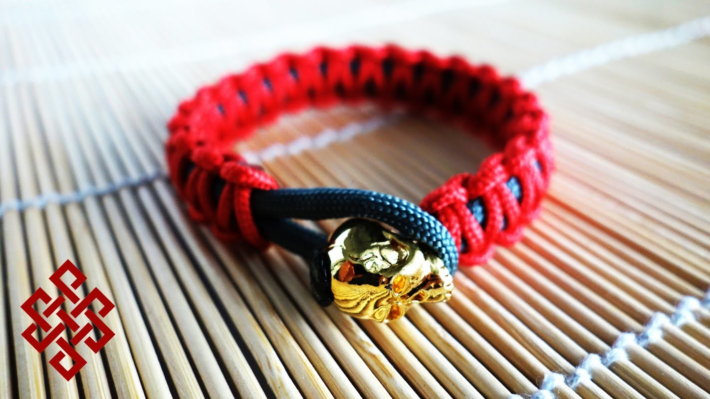 Slim Solomon Knot Bead Clasp Paracord Bracelet Tutorial