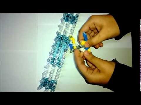 Spirilla Bracelet Art loom tutorial