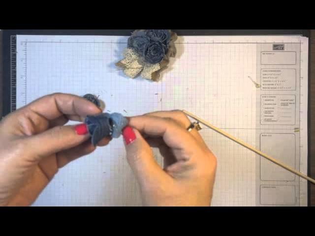 Stampin' Up! Video Tutorial Denim Spiral Flower
