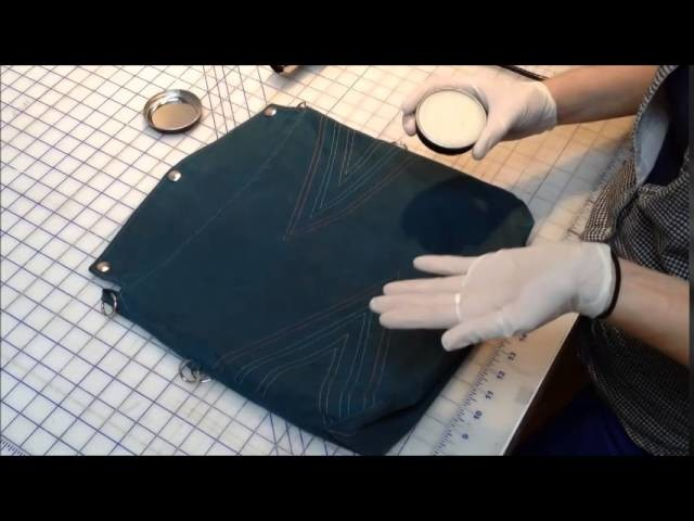 Tutorial: How to rewax your waxed canvas bag or accessory