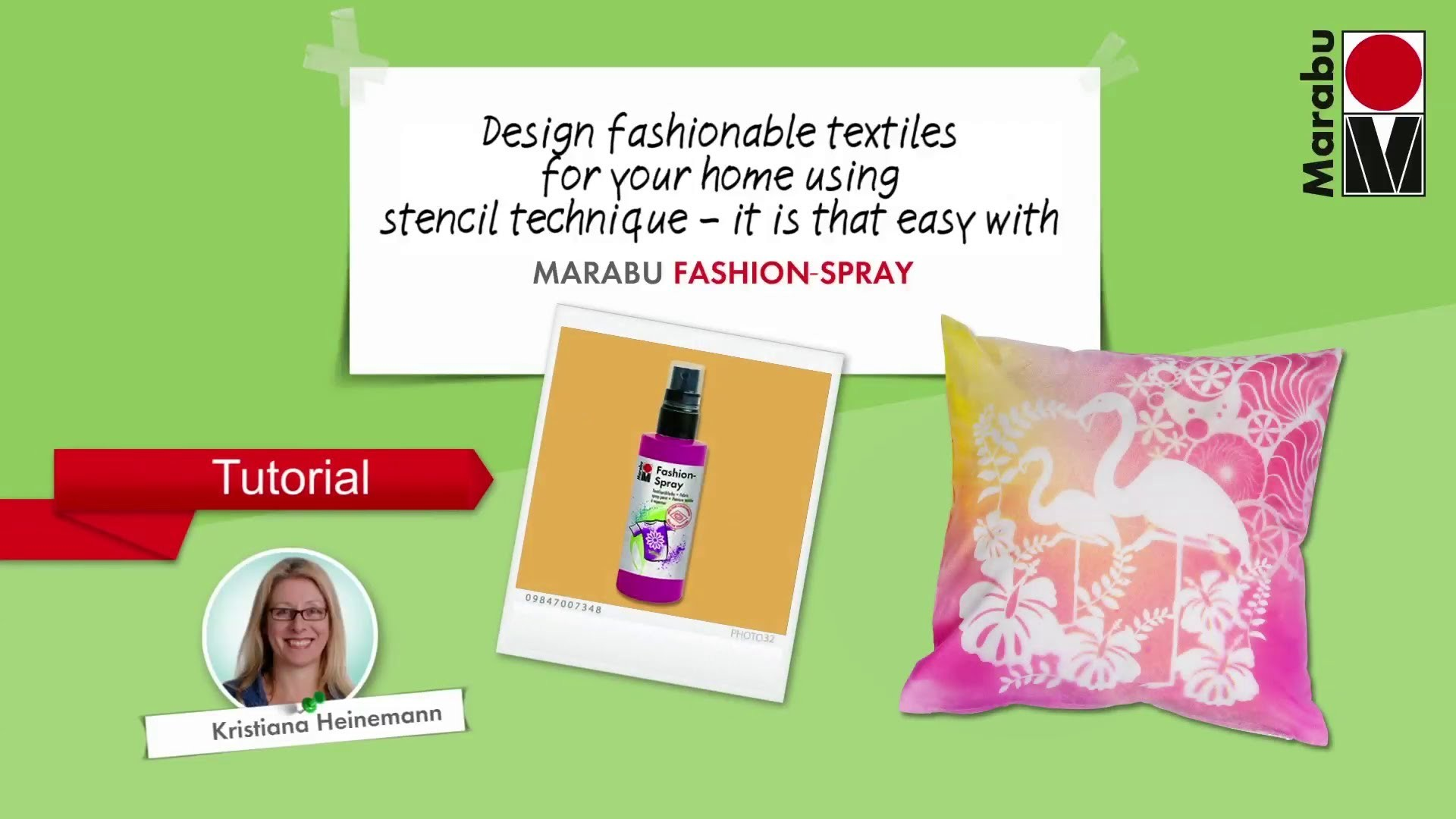 "Tutorial ""STENCILLING"" by Marabu Fashion (English)"