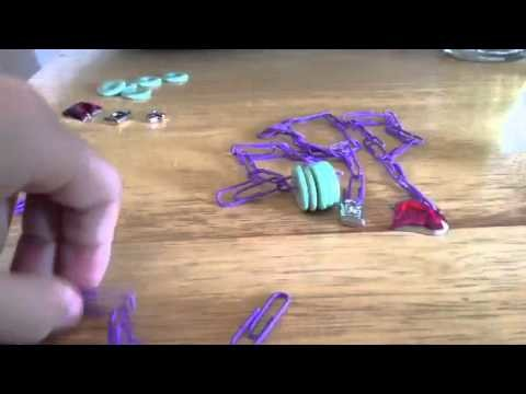 Updated Doll jewellery tutorial how to make paper clips ne