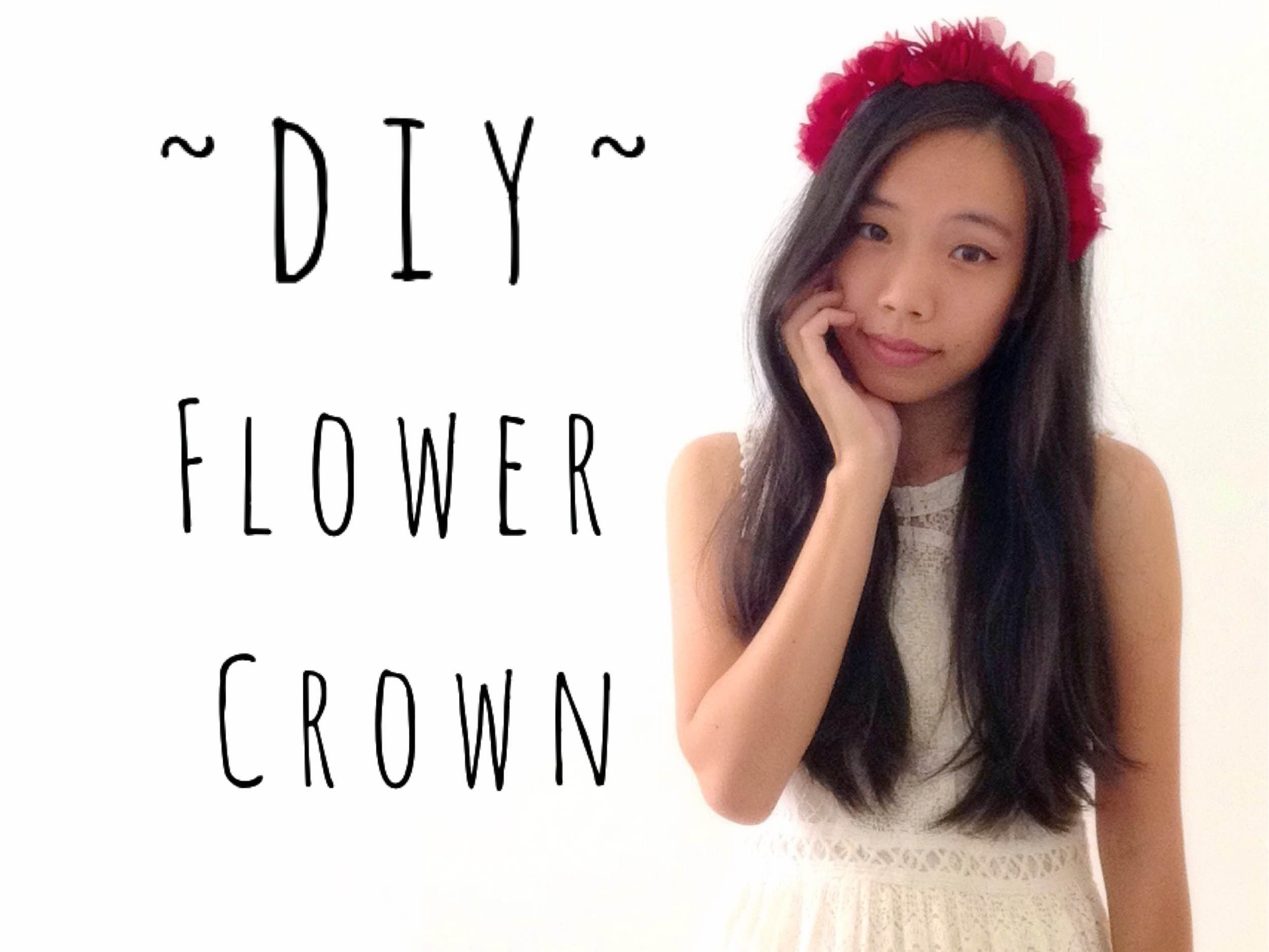 Valentines Day DIY Red Flower Crown | craftyourfashion