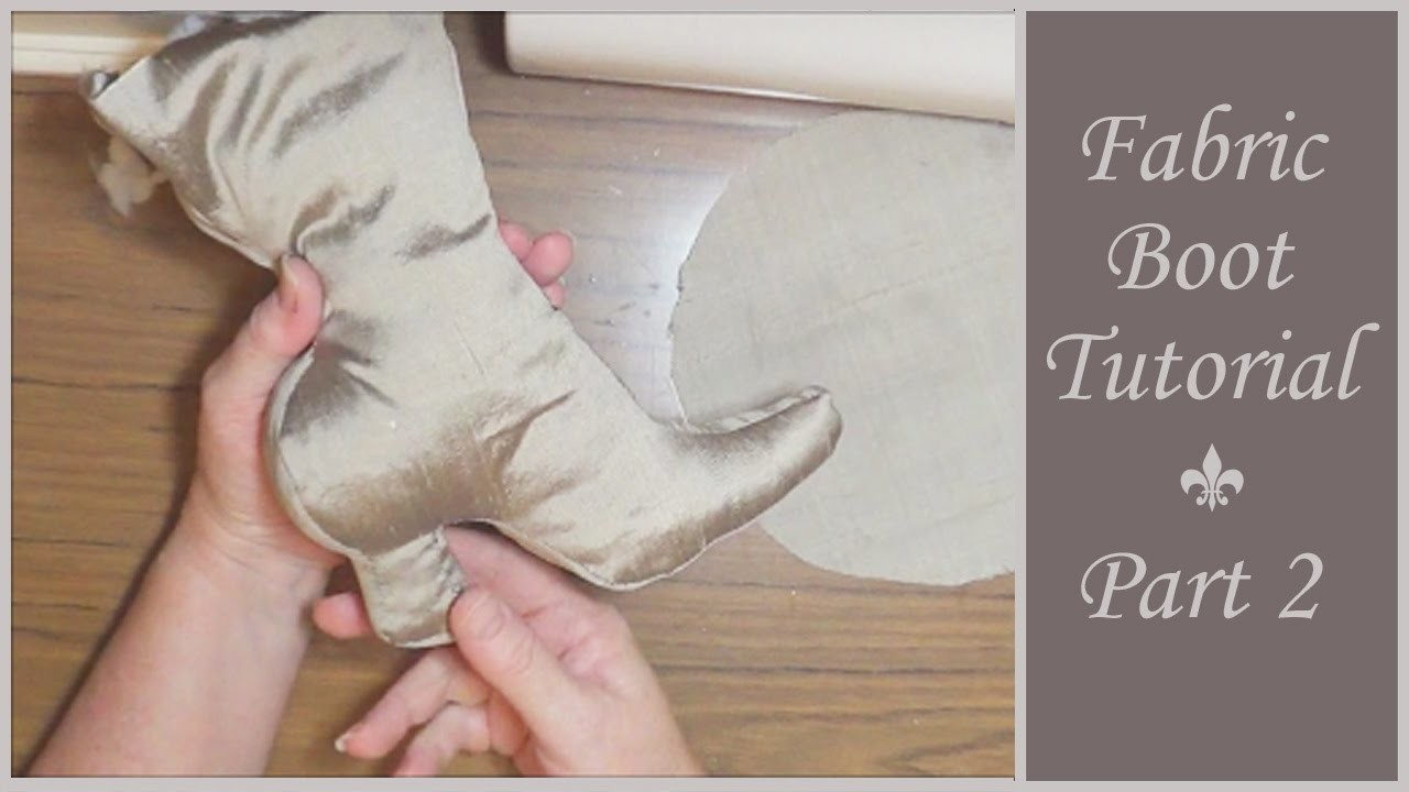 Vintage Style Fabric Boot Tutorial - Part 2