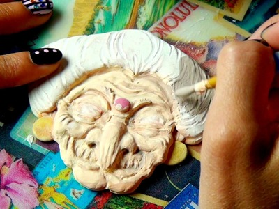 Yubaba from Spirited Away Clay Tutorial