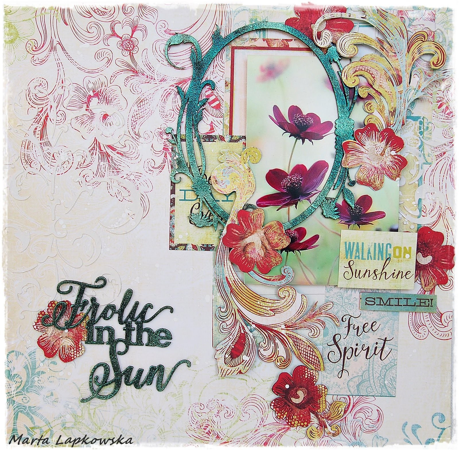 Basic scrapbooking tutorial by Marta Lapkowska 'Free spirit'