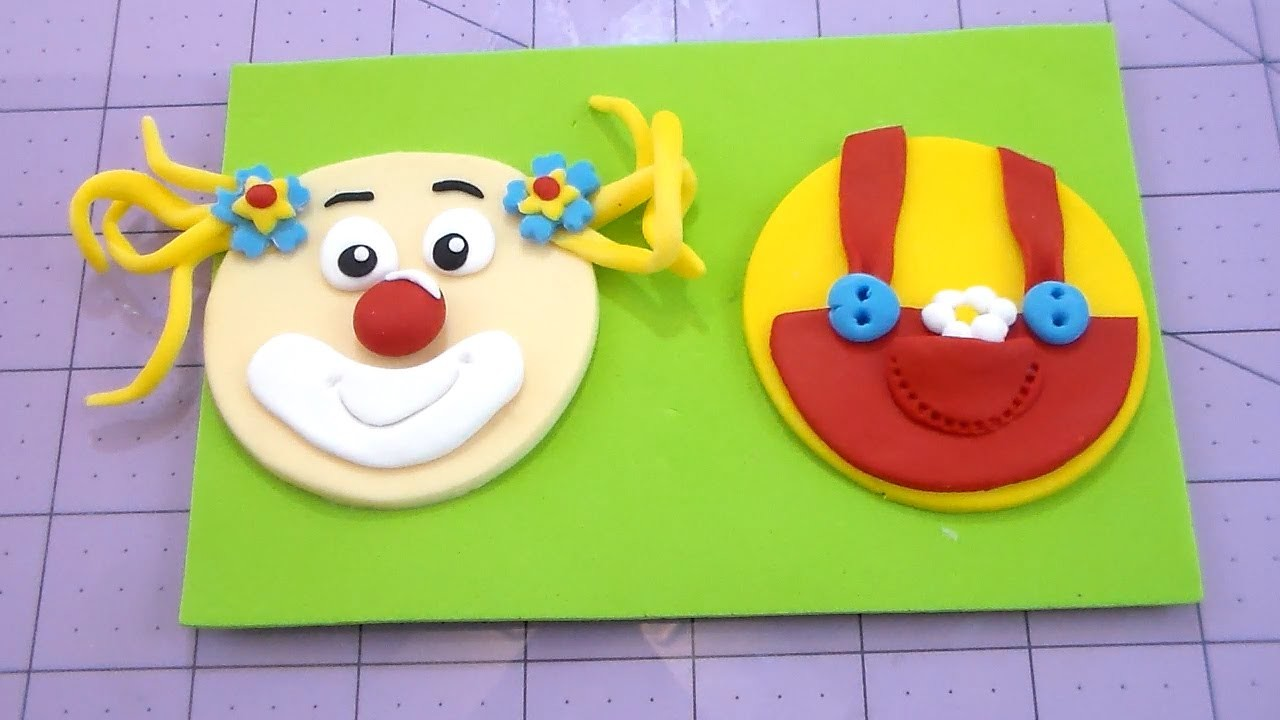 Clown Cupcake Topper or side detail for cake tutorial