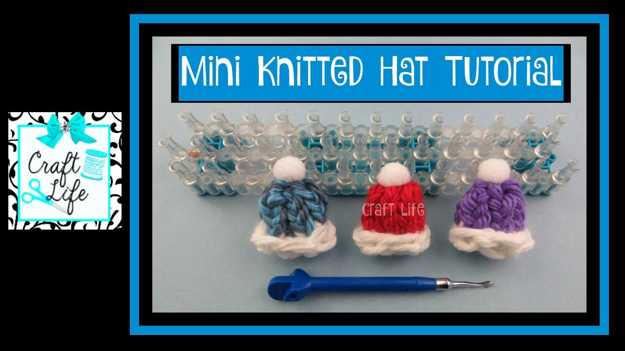 Craft Life ~ Mini Knitted Hat Tutorial ~ DIY Pins Hair Elastics & Clips