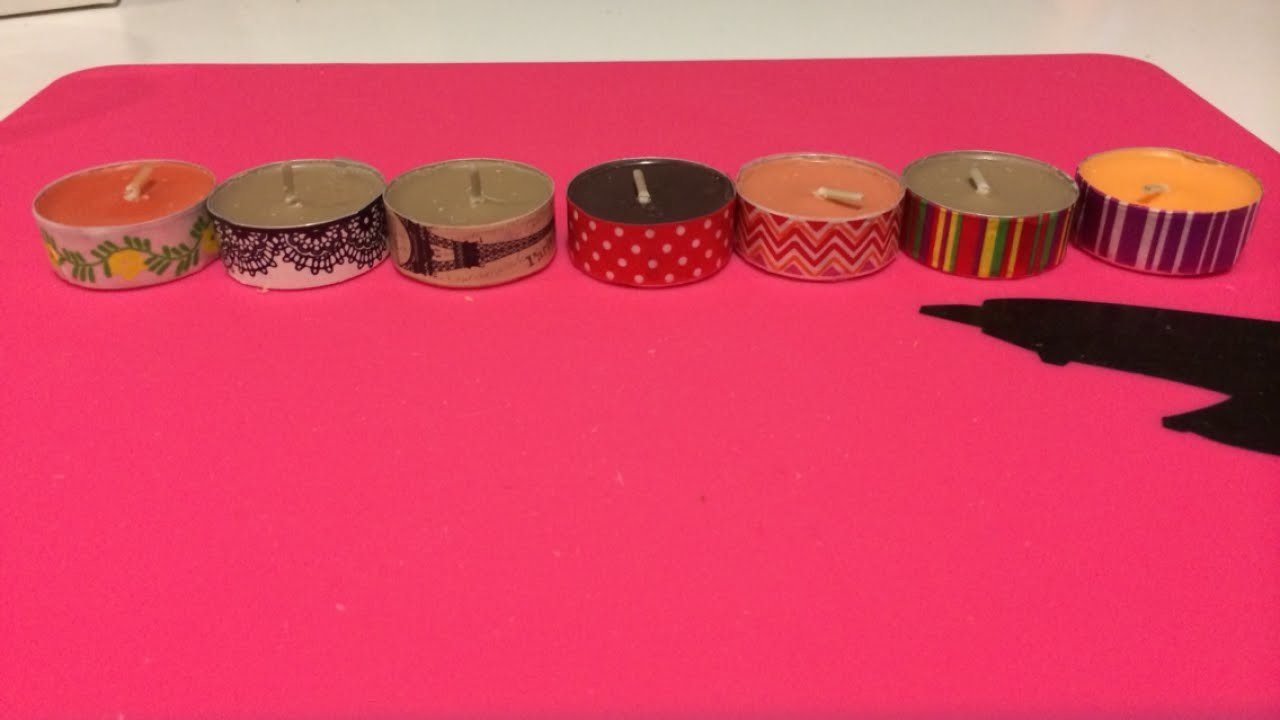 Create Unique Washi Tape Tealights - DIY Home - Guidecentral