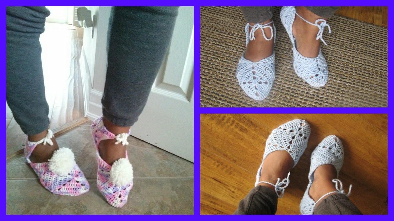 Crochet Granny Slippers Tutorial
