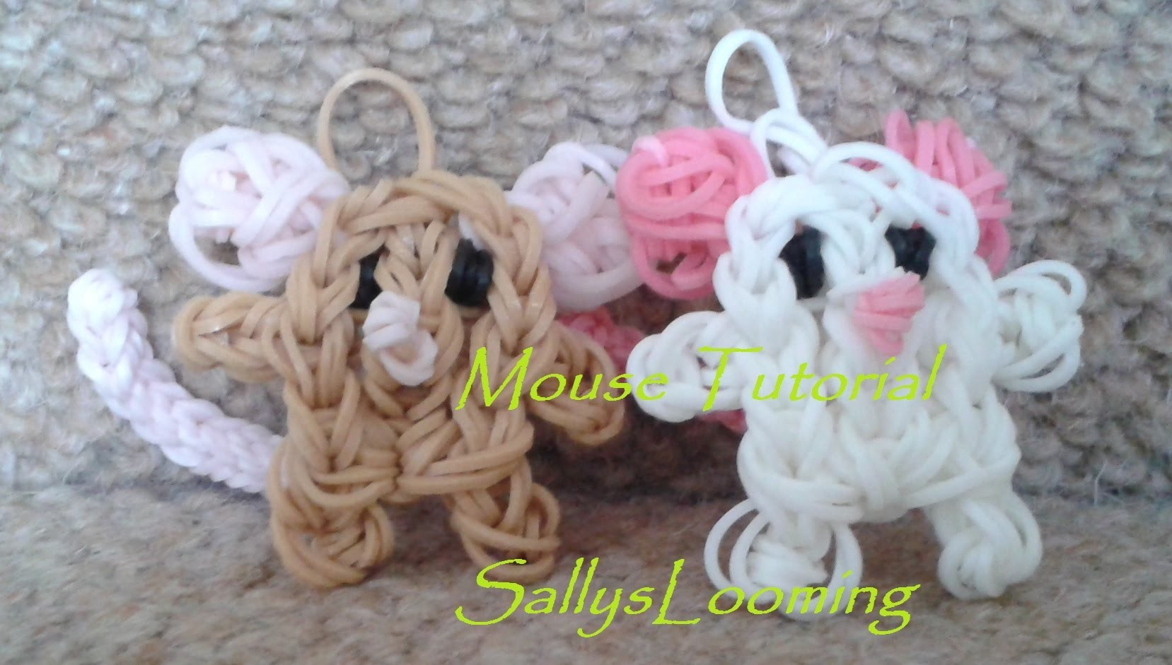 Cute Mouse Charm Loom Band Tutorial