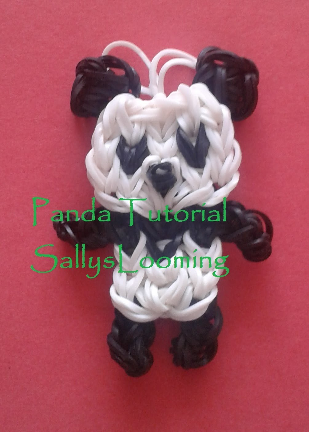 Cute Panda Charm Loom Band Tutorial