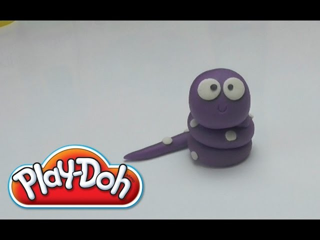 Cute Pink Snake - How to make with PLAY DOH DIY