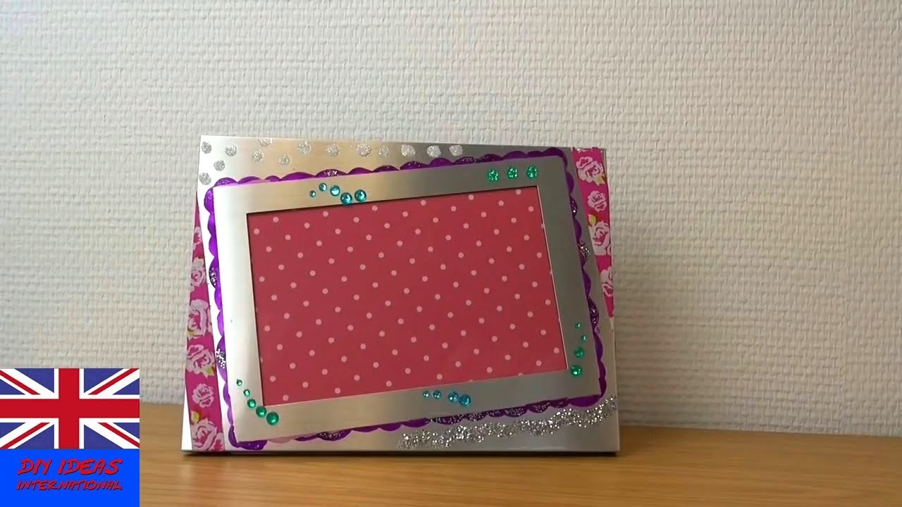 Decoration Photo Frame Tutorial: How to decorate a Photo Frame? Easy Trick