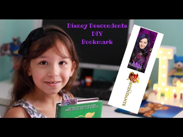 Disney Descendents DIY Bookmark