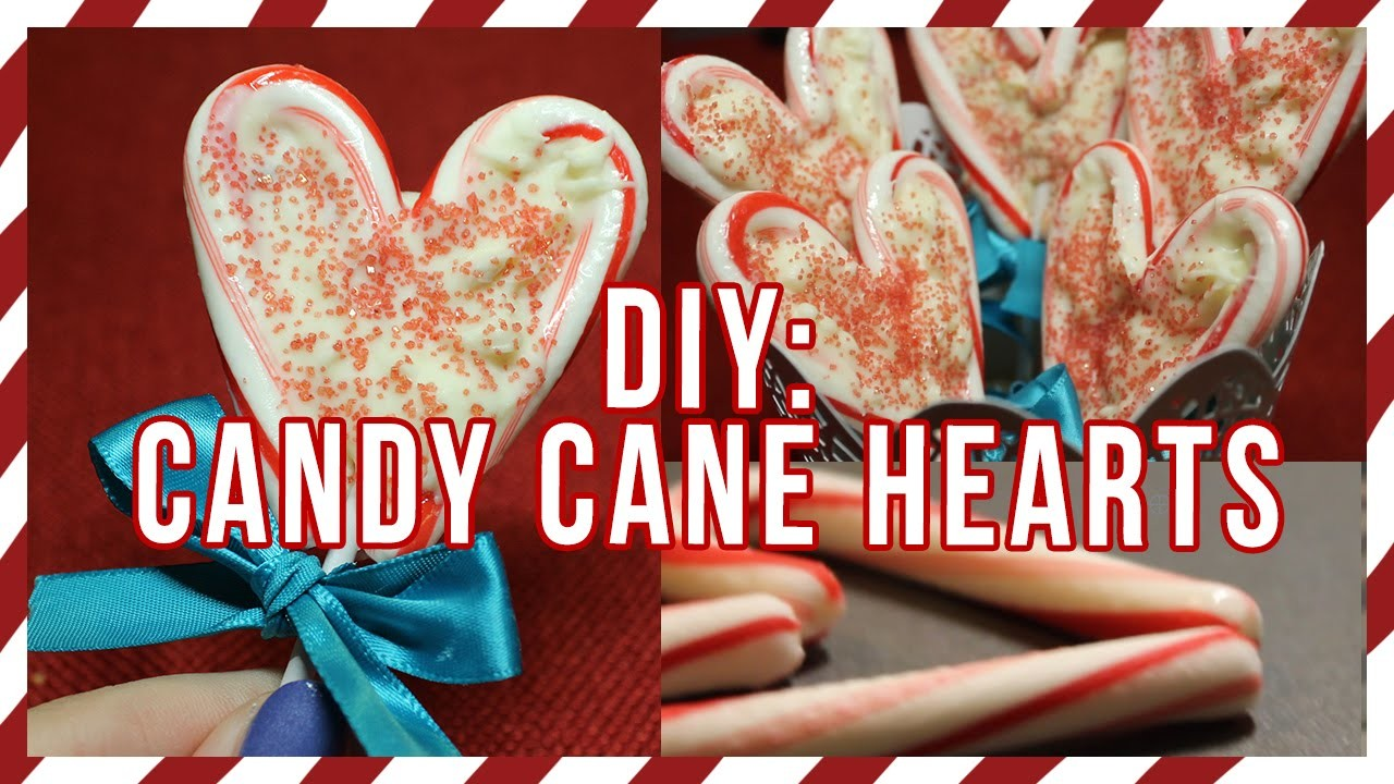 DIY: Candy Cane Hearts