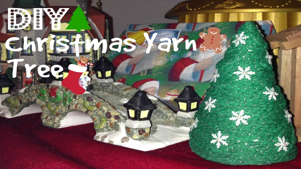 DIY Christmas Yarn Tree