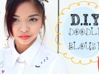 DIY ✂ Doodle Embroidered Shirt | Enchantelle