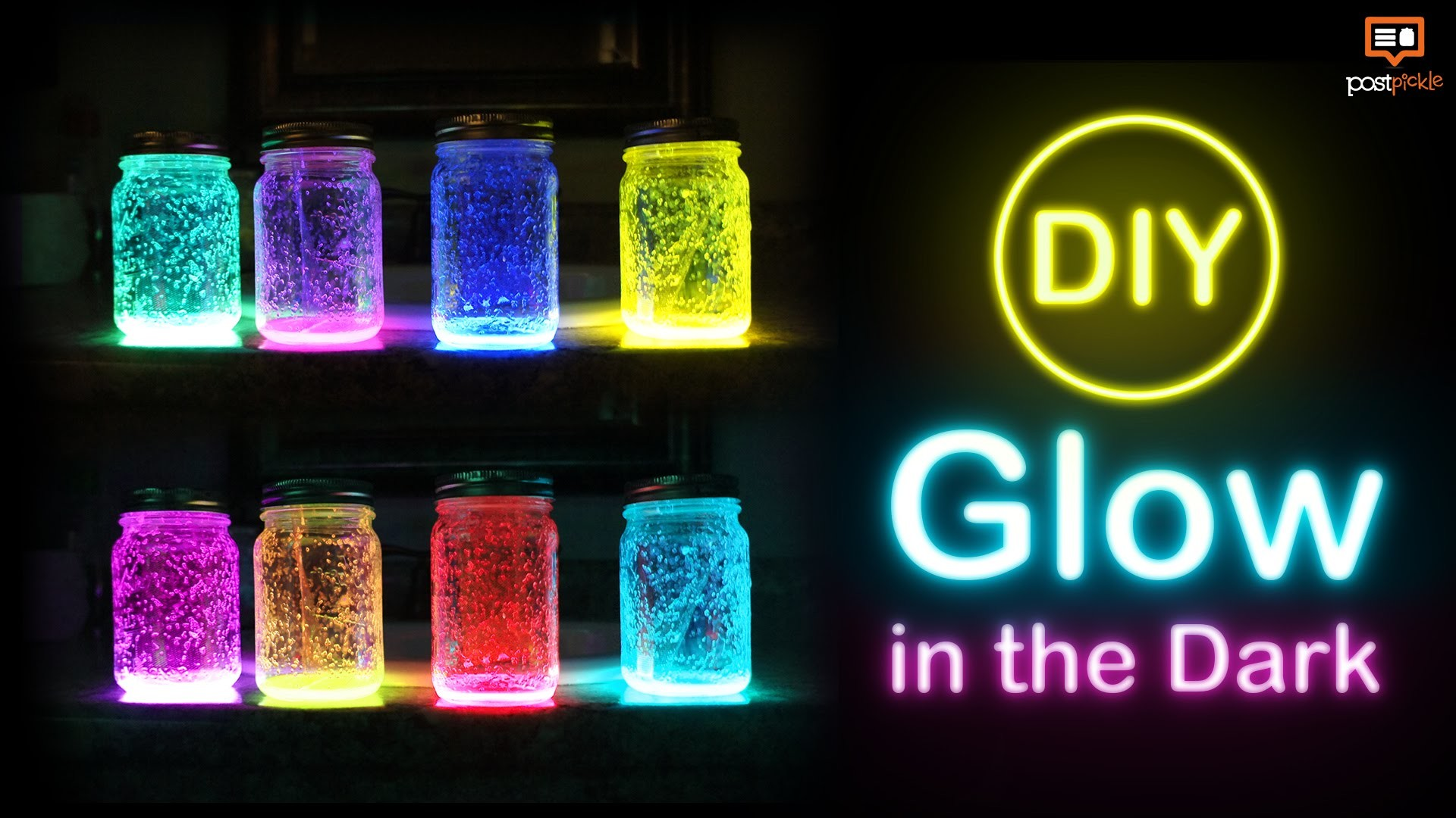 DIY- Glow In The Dark Mason Jar