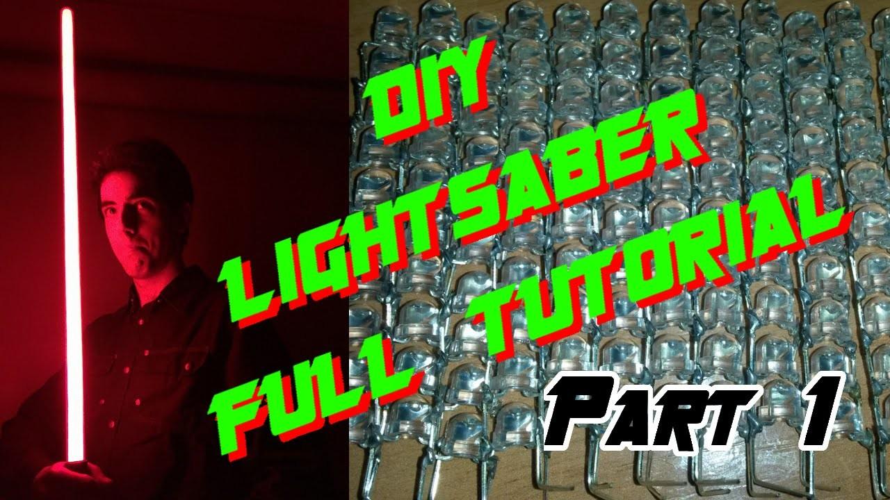 DIY lightsaber full tutorial - LED string edition - Part 1