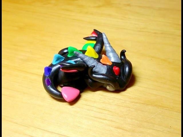 DIY- Rainbow Polymer Clay Dragon Tutorial