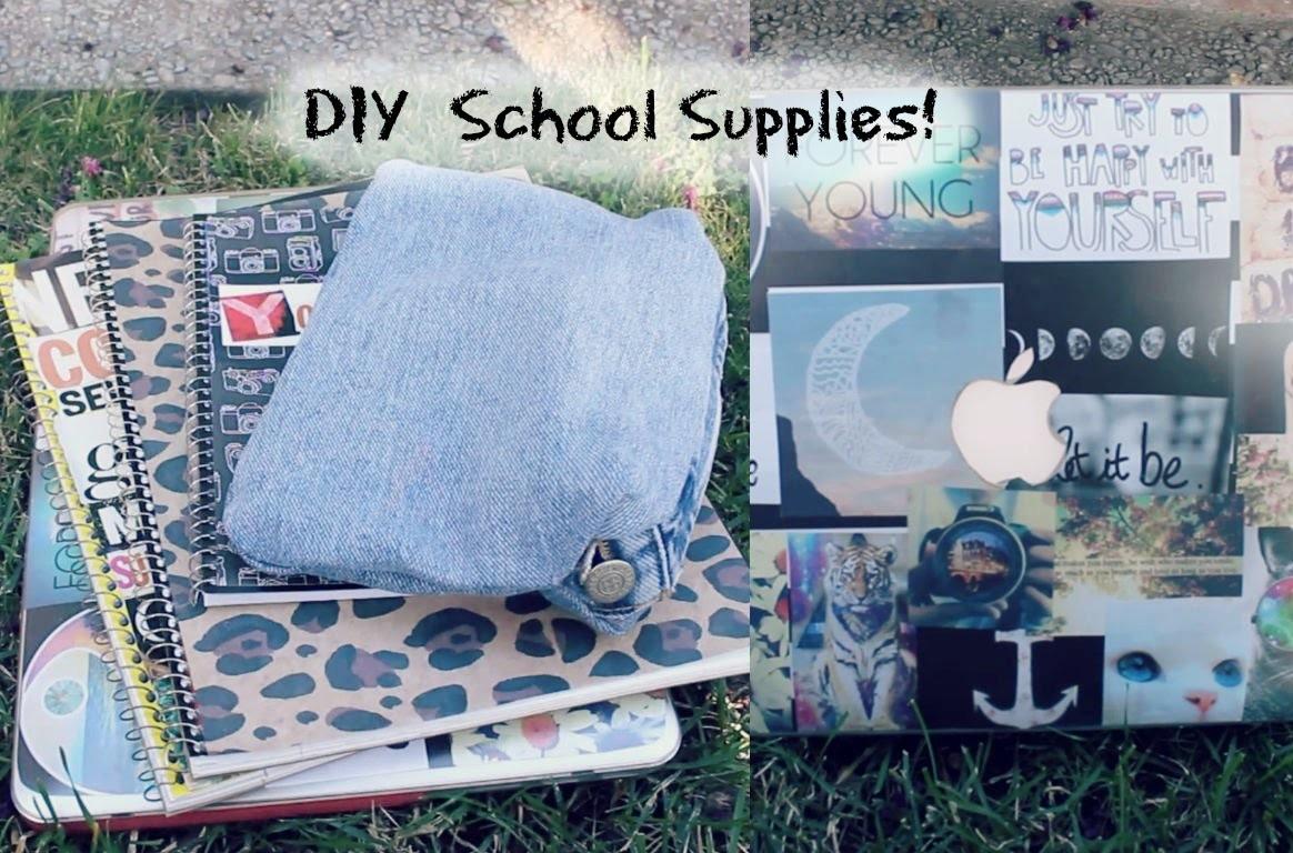 DIY School Supplies! | Leopard, Tumblr, Denim