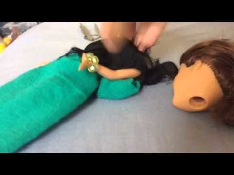 Doll tutorial how to take off your sparkling girls doll head off