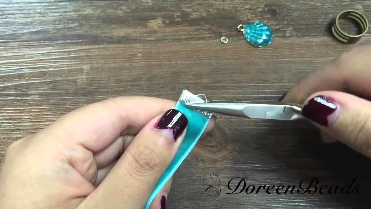 Doreenbeads Jewelry Making Tutorial - How to Make A Cute Charm Bookmark