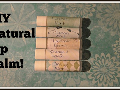 Easy 5 Ingredient Argan Oil Lip Balm Tutorial!