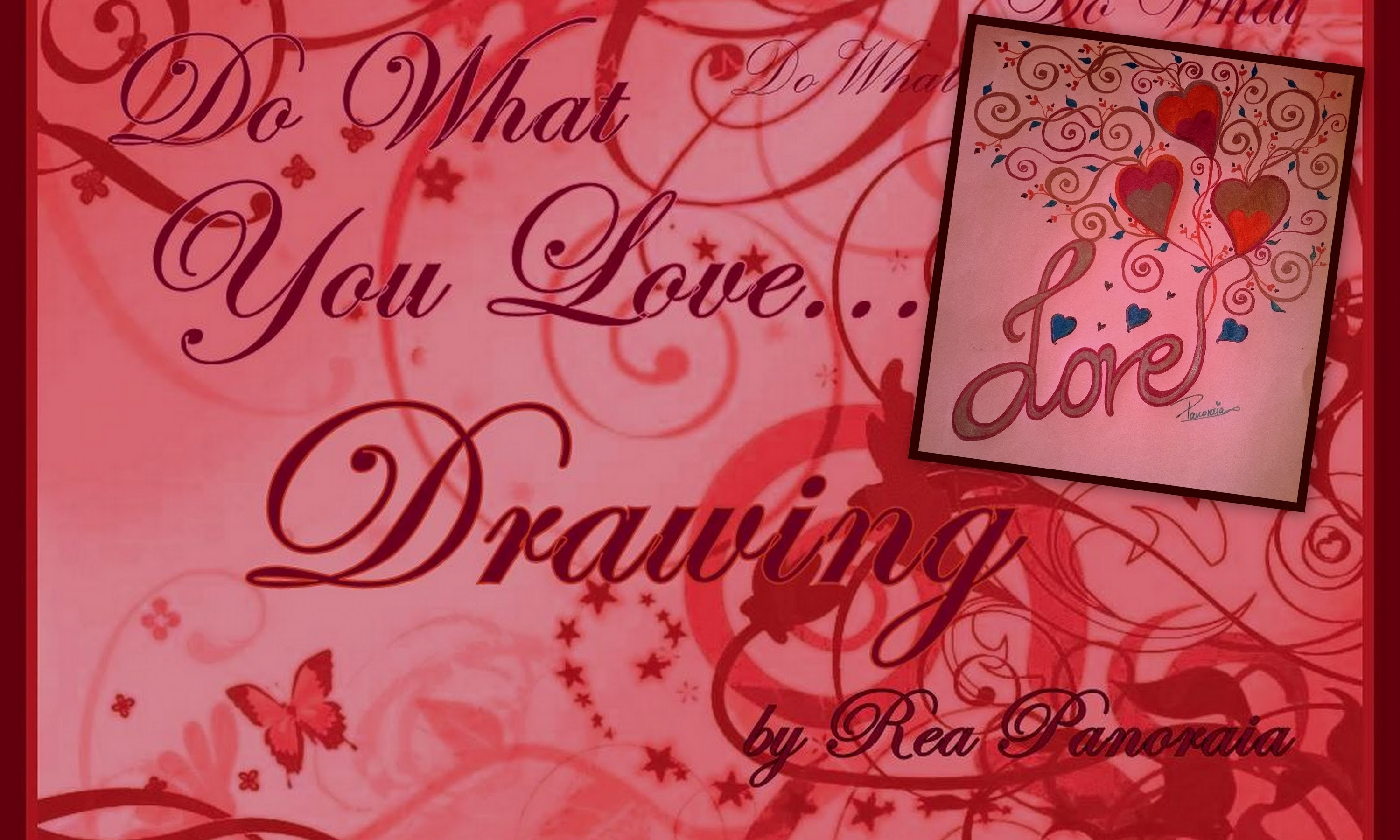 Easy Colourful Valentine's Love Tangled Heart Tree Tutorial | Panoraia's Art
