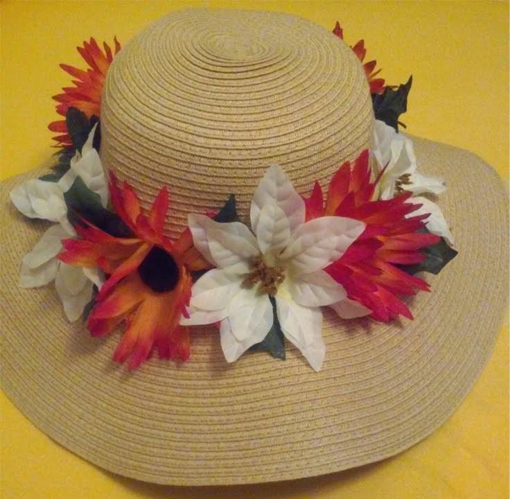 Easy DIY Flower Floppy Hat