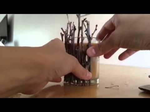 Fall decor tutorial-twig candle