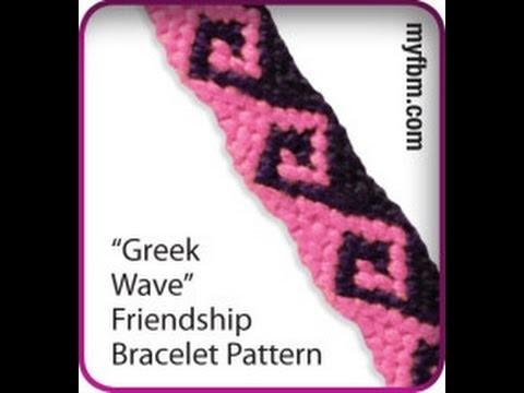 Friendship Bracelet Tutorial Greek Wave Pattern