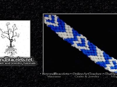 ► Friendship Bracelet Tutorial - Intermediate - Chevron Hearts