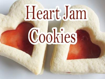 Heart Jam Cookies (baking tutorial)