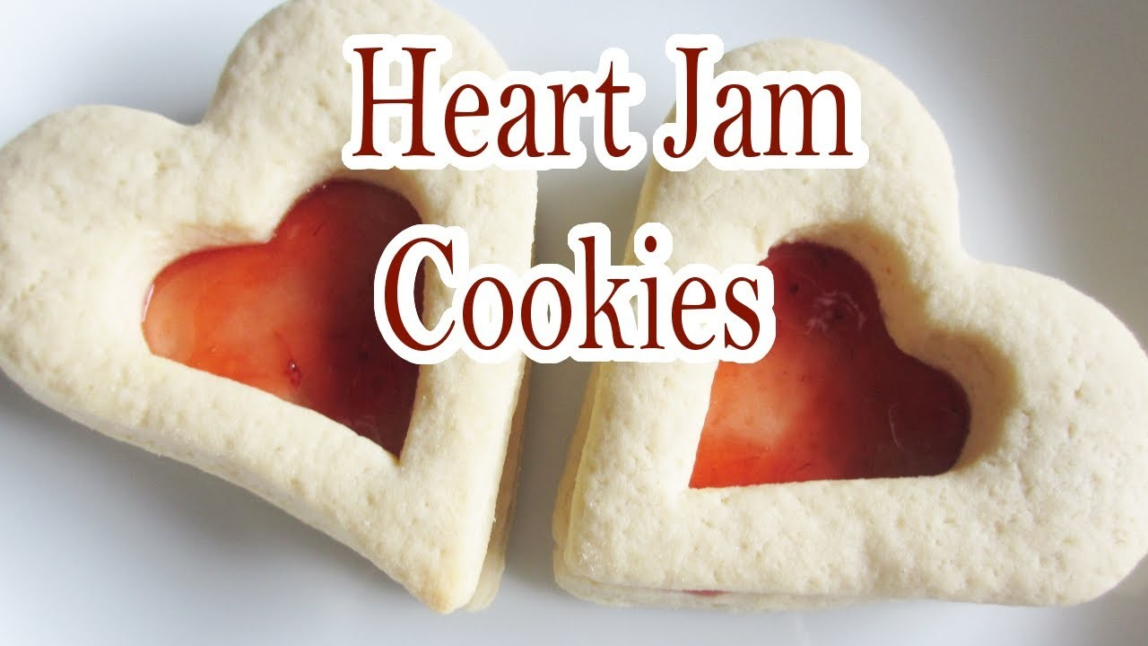 Heart Jam Cookies (baking tutorial)