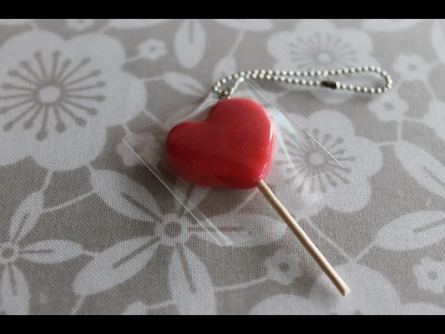 Heart Lollipop Keychain ♥ Valentine's tutorial